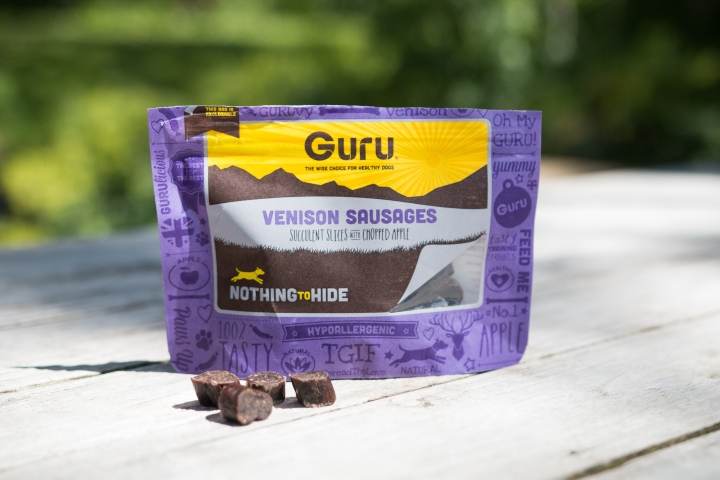 Guru Pet food Venison Sausages